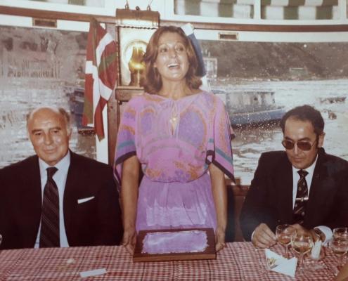 Cena homenaje a Jesús Ferreiro en Trincherpe. Intervención de Rosa María Lobo.