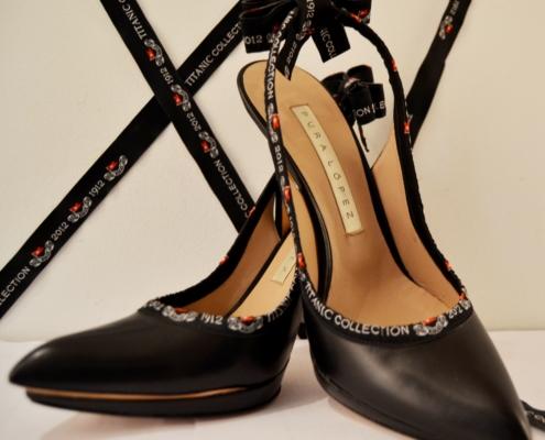 TITANIC Collection. Zapatos de Pura López. Colección de artículos conmemorativos del Centenario.