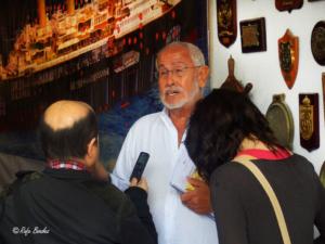 Presentación a la prensa del proyecto expositivo de la Fundación Titanic. Primera etapa de construcción. Gerona, 2013.