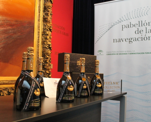 TITANIC Collection. Presentation of the special edition of Henri Abelé's champagne. Collection of articles commemorating the Centenary. Seville Navigation Pavilion, 2012.