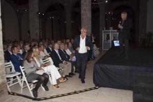 Conferencia de la Fundación Titanic por Jesús Ferreiro. En el Museo Marítimo de Barcelona organizada por la Clínica Clarós. Barcelona, 2013.