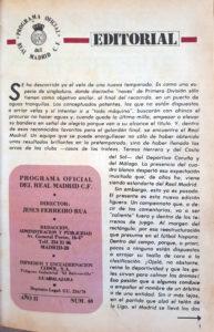 Boletín Oficial del Real Madrid. 1975