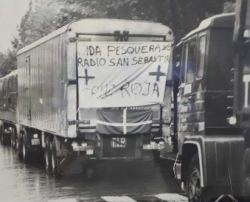 Camiones de ayuda para Valencia.