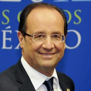 Francois Hollande, President of the French Republic.