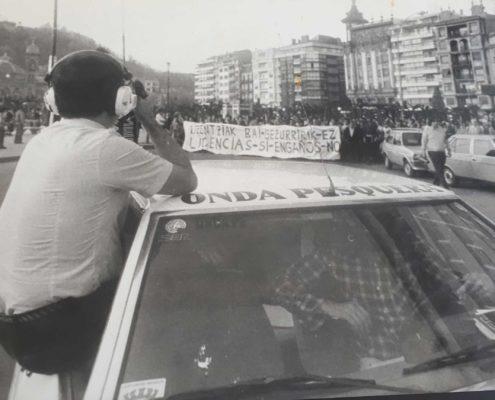 Jesús Ferreiro en la manifestación de Arrantxales.