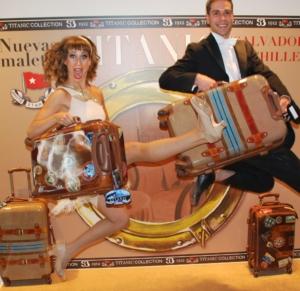 TITANIC Collection. Presentación de las maletas de Salvador Bachiller. Colección de artículos conmemorativos del Centenario.