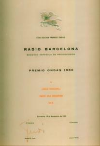 Ondas Jesús Ferreiro Award.